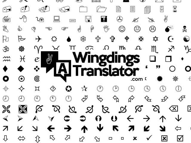 wingdings translator online free