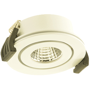 KLEMKO LED INB.SPOT VENICE WIT 3,3WBUIT.DIA 50 MM GAT 45 MM 2700K IP44
