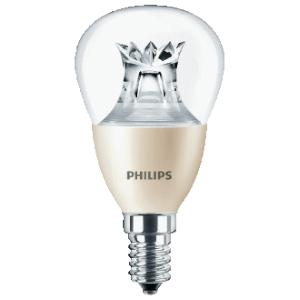 Philips Master LEDluster led-lamp KOGEL 4W/E14 HELDER DIMBAAR
