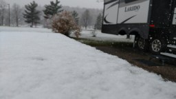 Photo of snow in River Falls WI on October 27, 2017