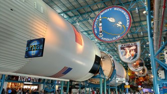 Apollo missions visitor/museum area at NASA's Kennedy Space Center