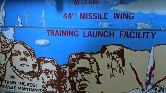 Mural as you walk down into the training silo for the Titan missile at Ellsworth Air Force Base