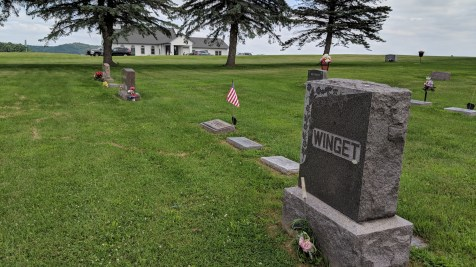 The original section of Wisconsin graves at St John Lutheran Church, Popple Creek, Colfax, WI