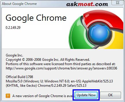 تحديث جوجل كروم-2