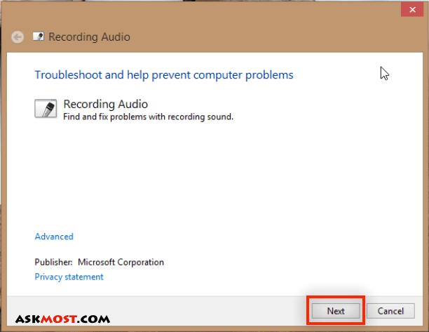 تسجيل الصوت في ويندوز ٨-٢