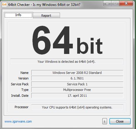 هل جهازك يدعم 64 بت