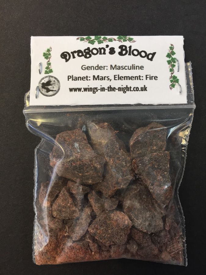 DRAGONS BLOOD Incense Resin 10g Pagan Wicca