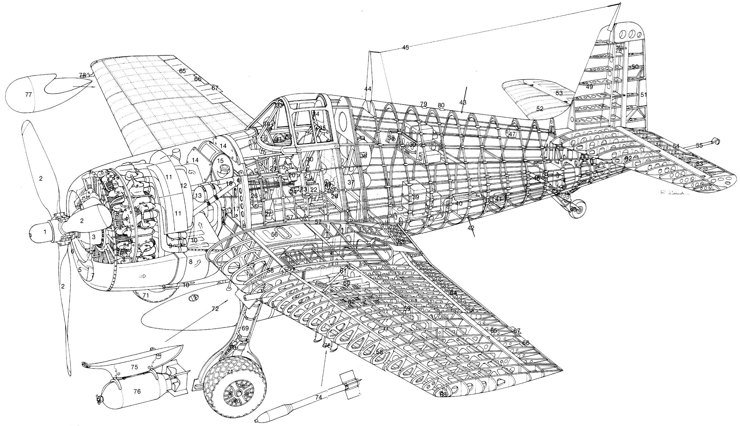 Grumman F6F Hellcat PDF eBook & Aircraft Flight Manuals