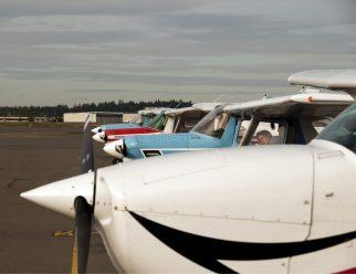 Flight School Planes on the Line