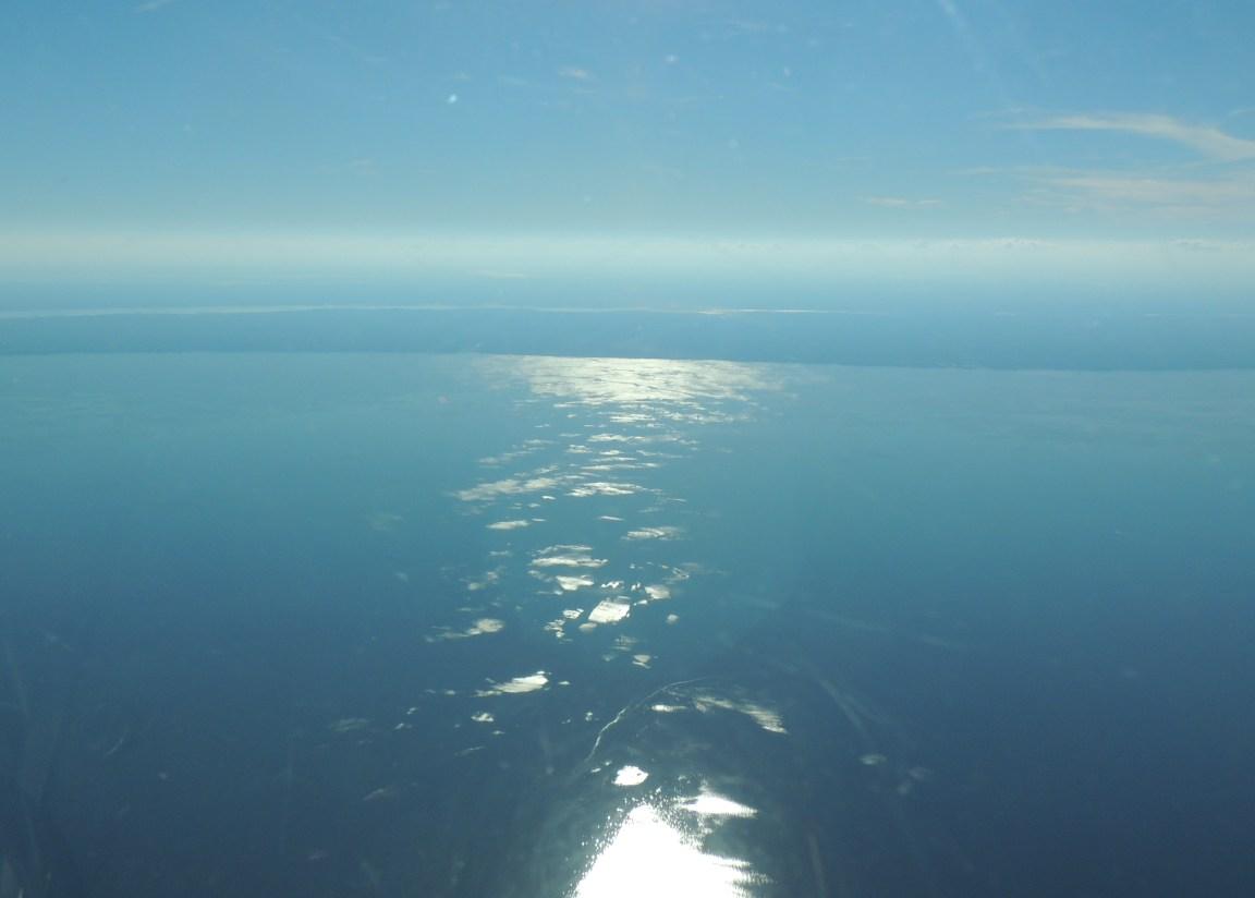 Sun reflecting off the Chesapeake Bay