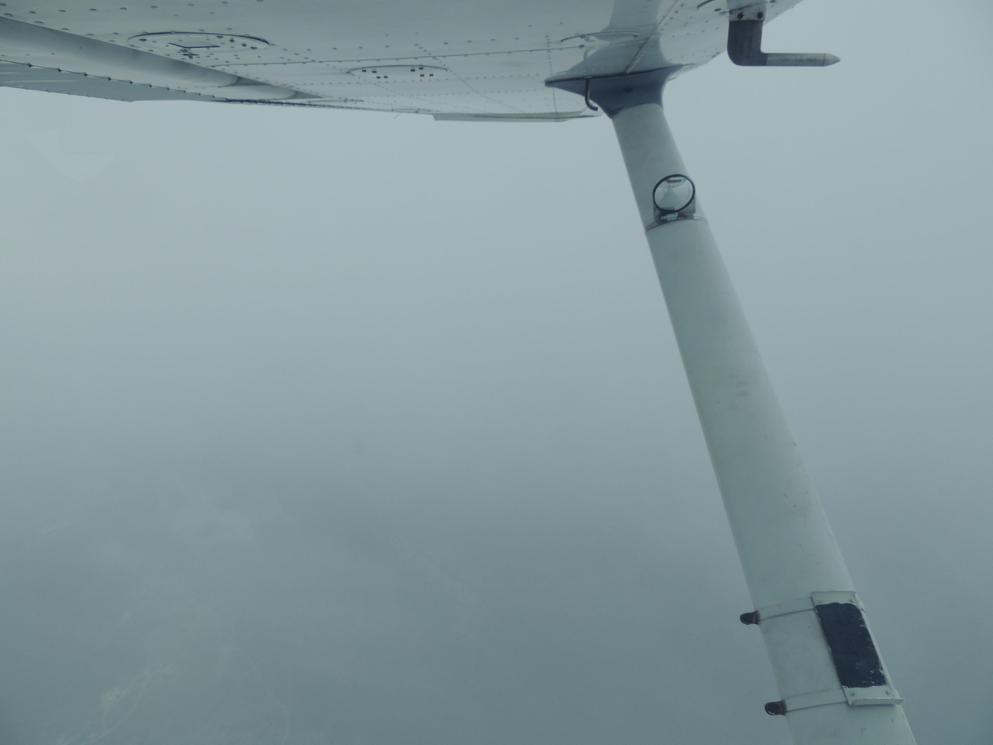 Flying thru snow over WVA
