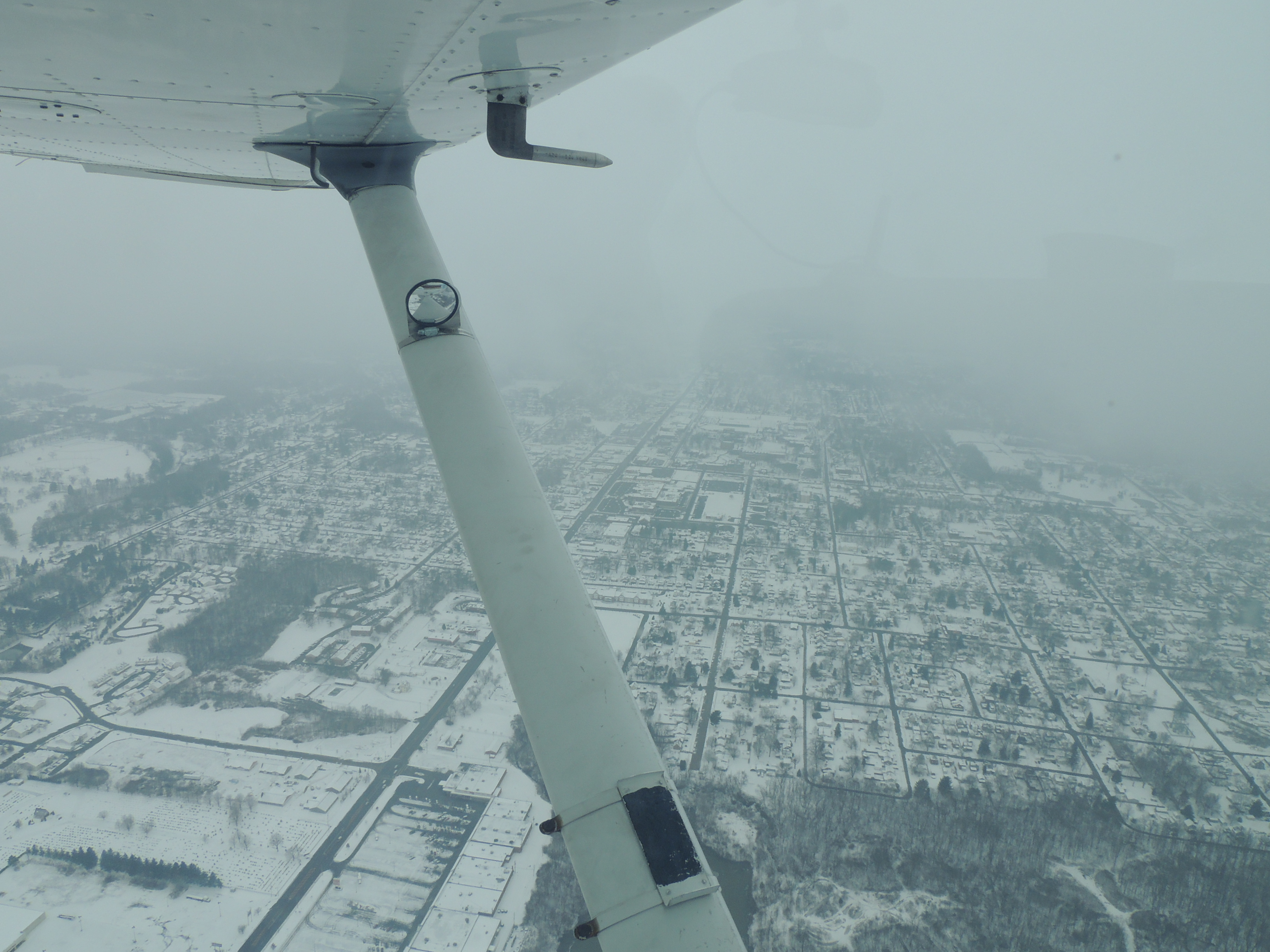 Flying thru snow over Ohio