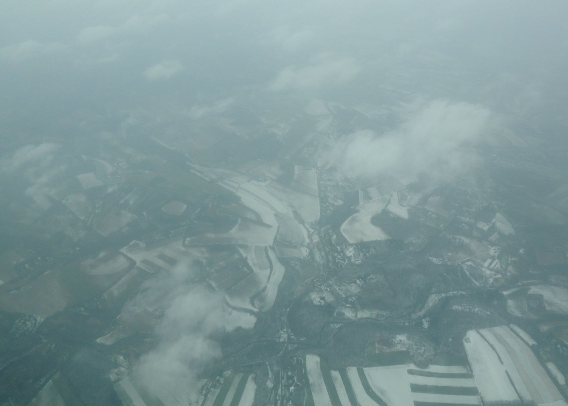 Flying thru snow over PA heading to Bedford MA