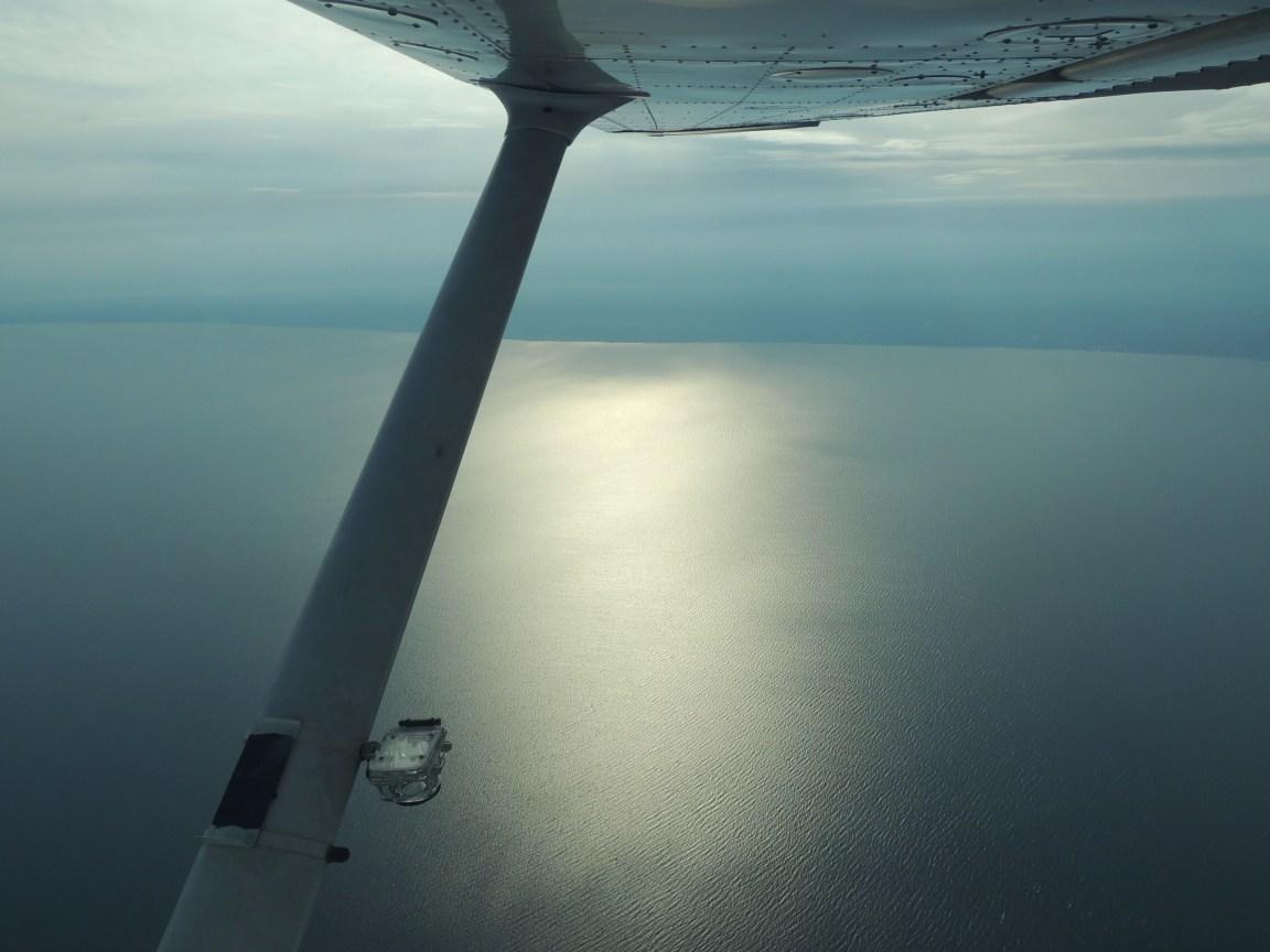 Over the Chesapeake Bay heading back to Richmond Virginia