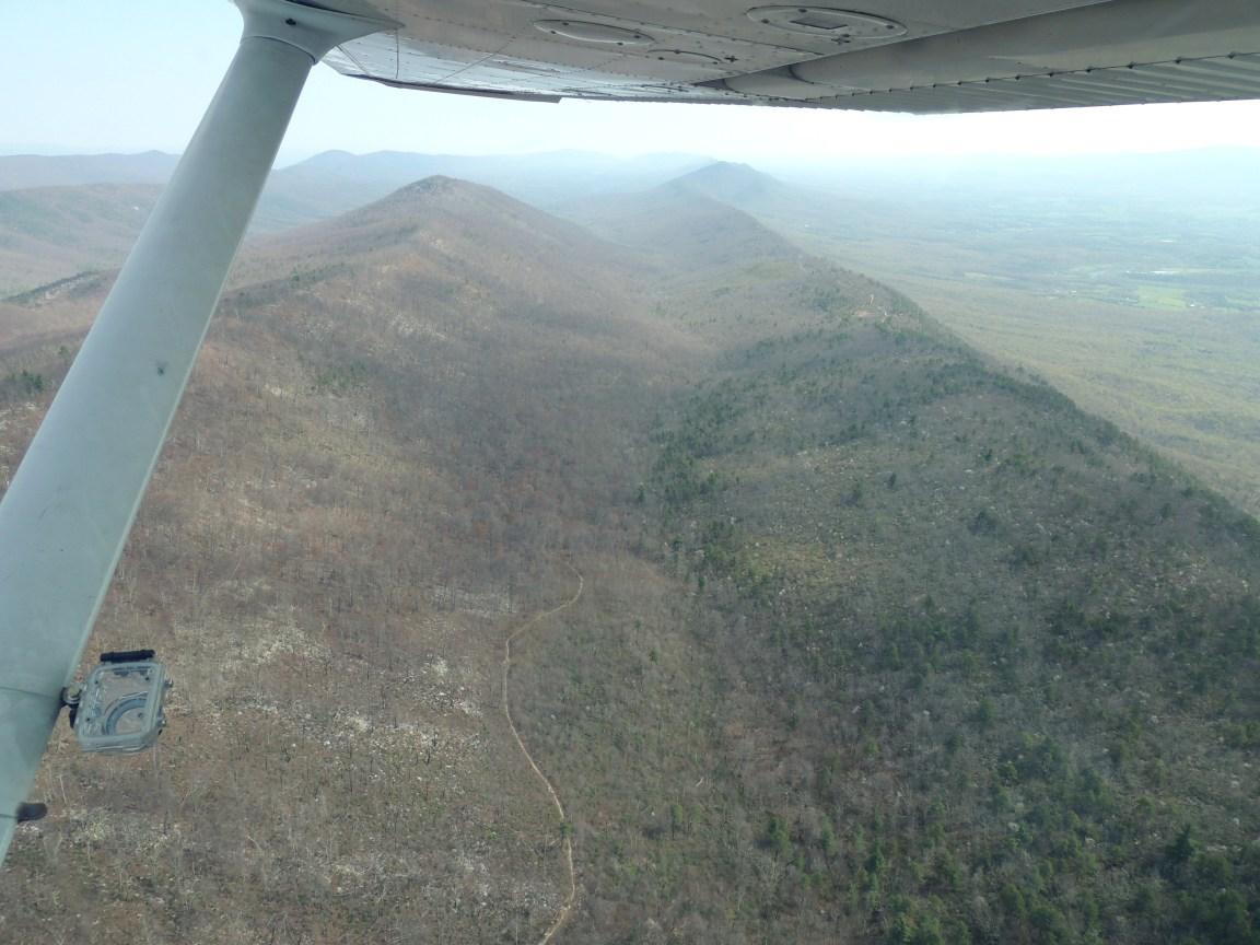 Heading over the Massanutten Mountains