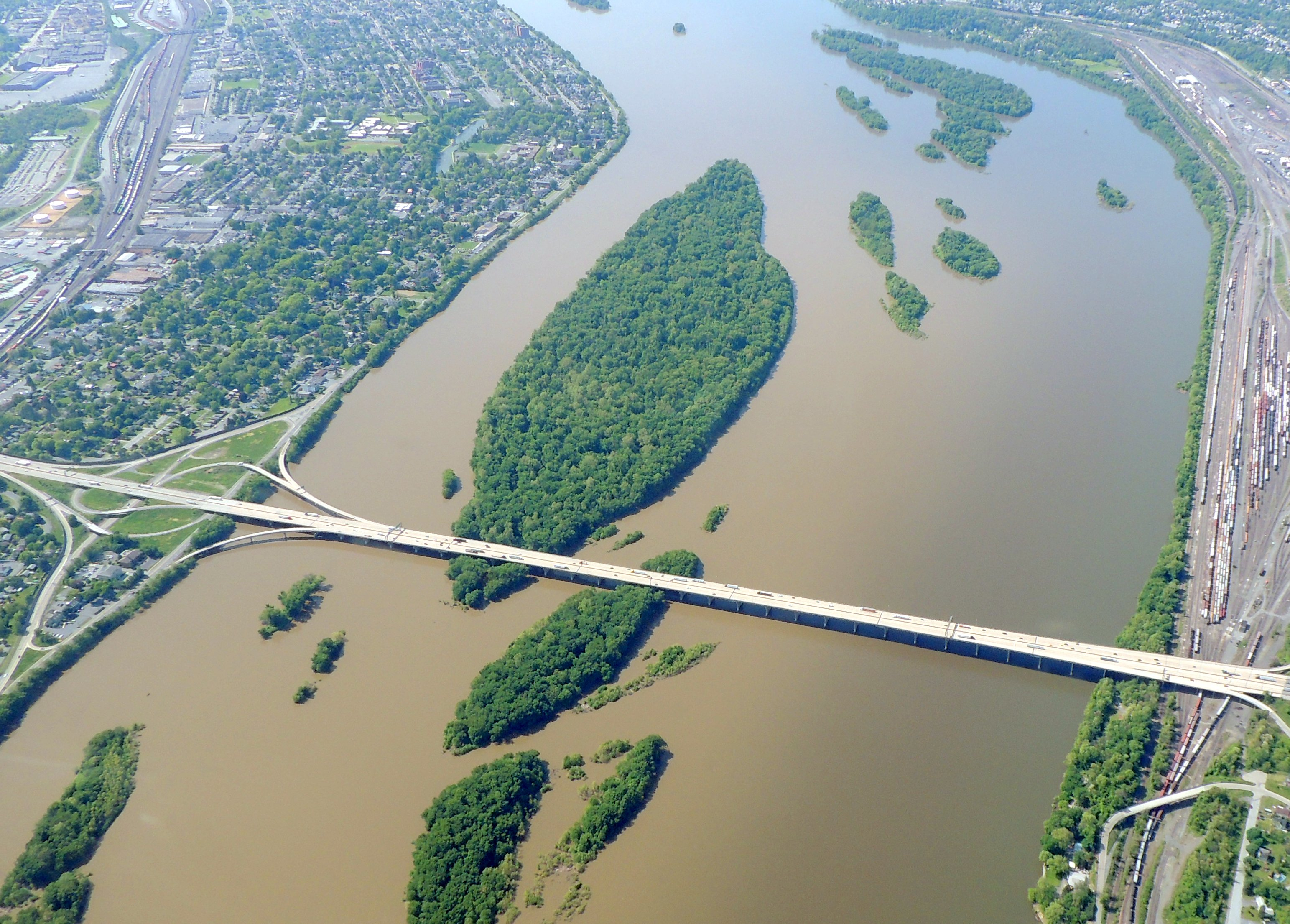 Bridge across the Susquehanna River at McCormicks Island  (Harrisburg PA)