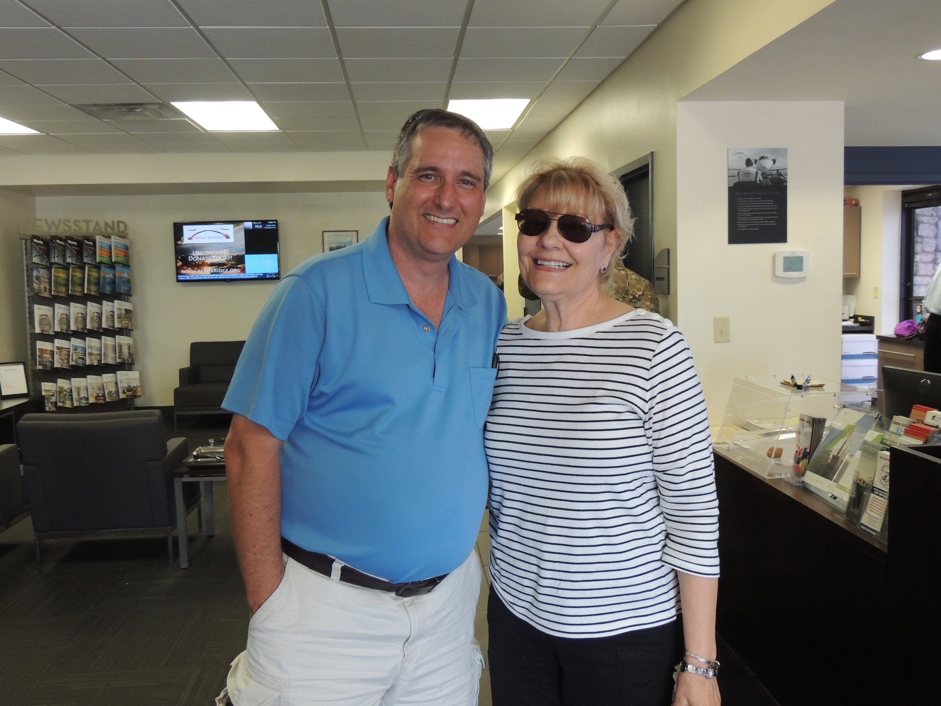 Pam with Paul at Asheville...... Paul flew Pam from Atlanta GA
