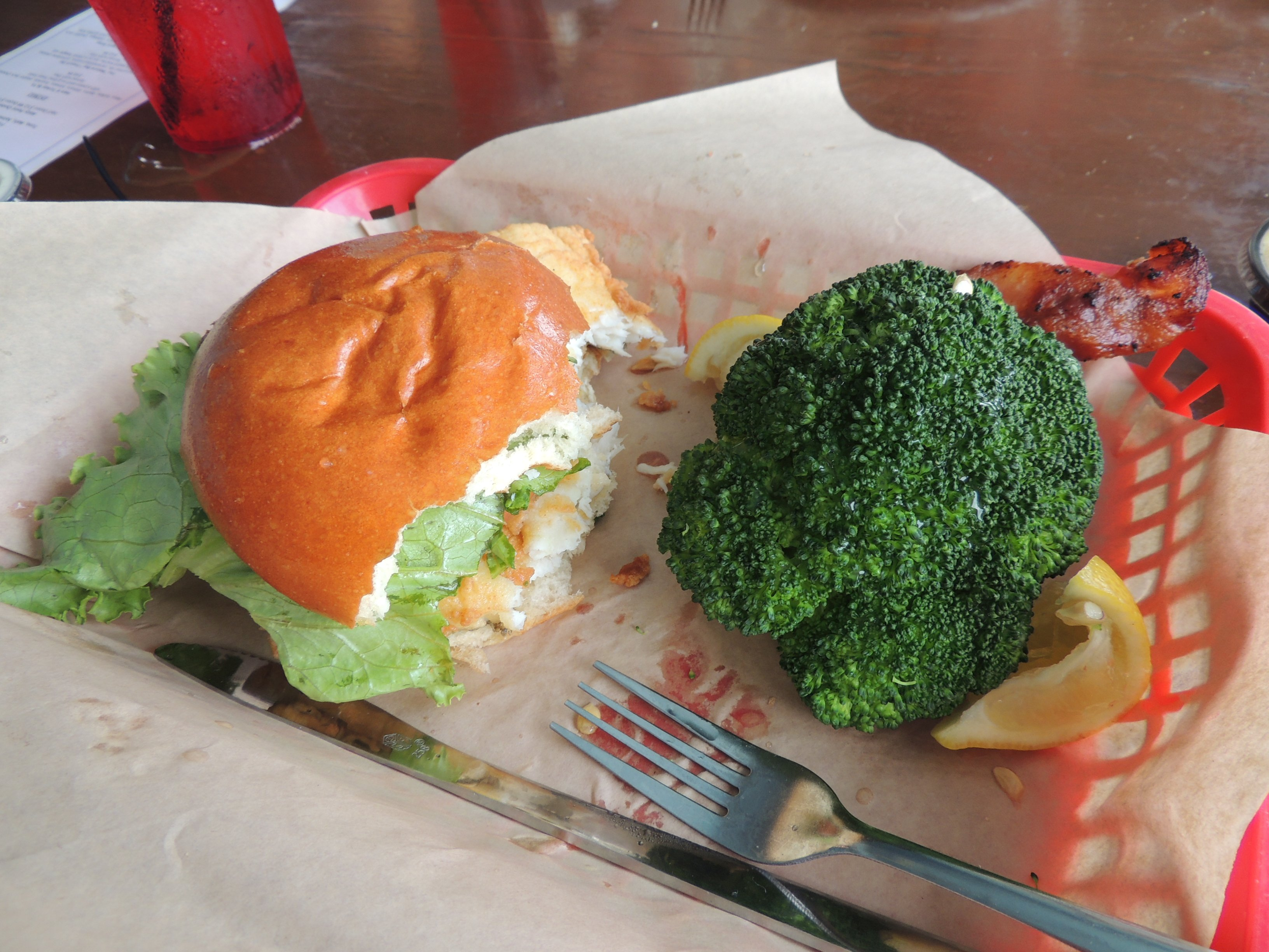 Flounder Sandwich  !