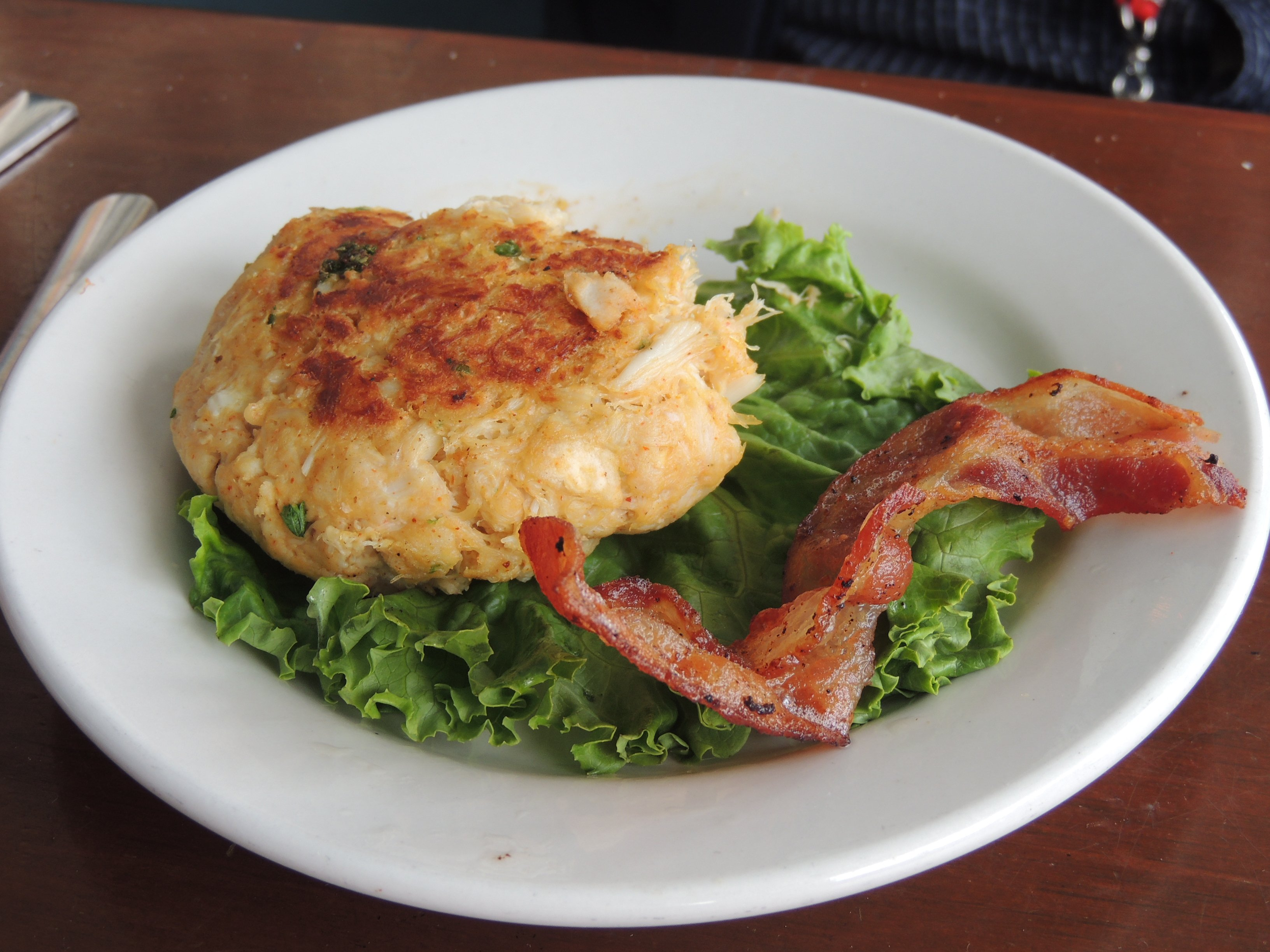 Crabcake and Hickory Smoked Bacon