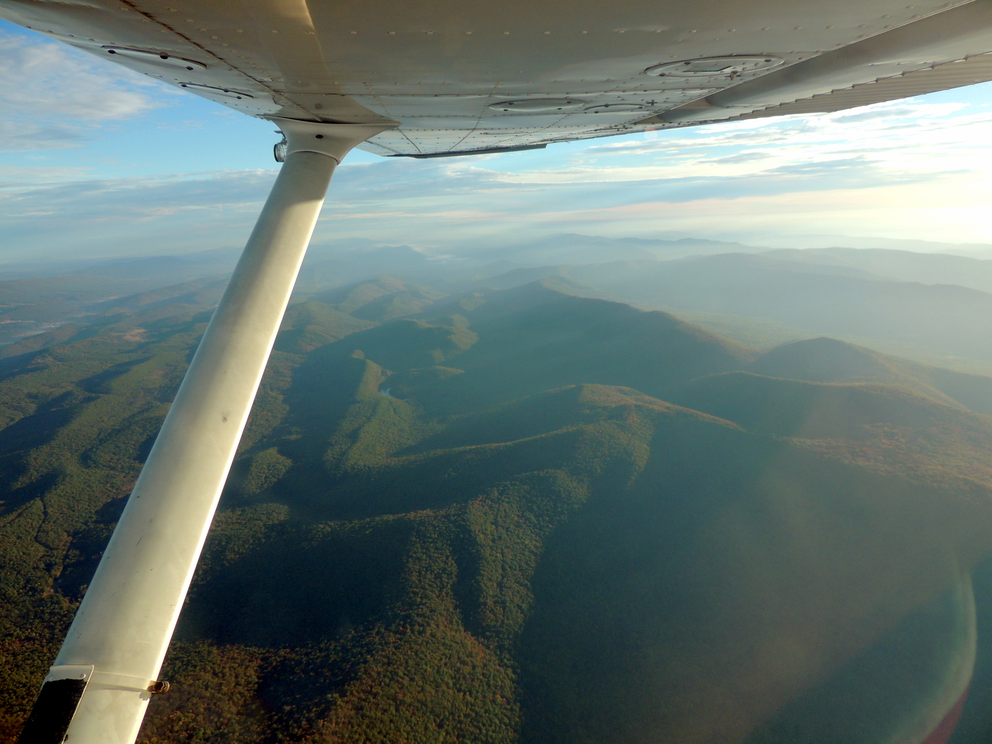 Looking north over the beautiful Appalachian Mountains