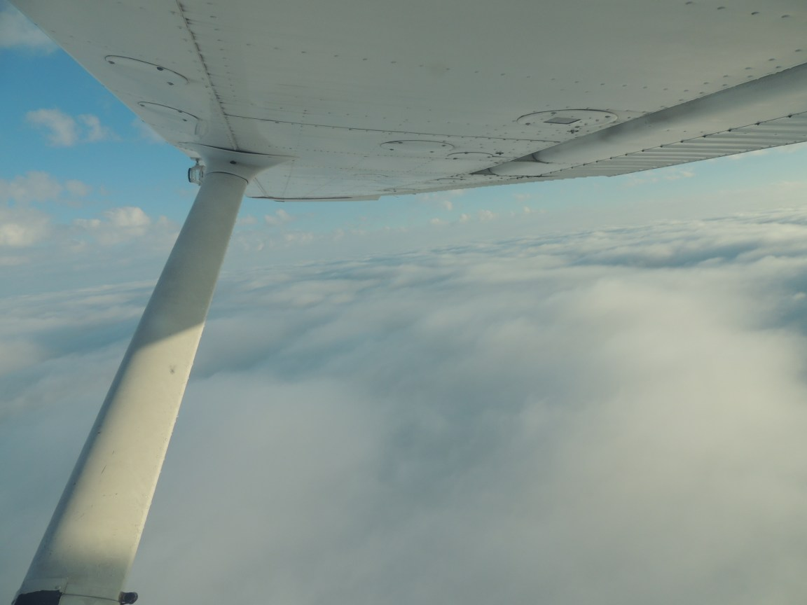 Our view for most of the day surfing the cloud tops ...... (Beautiful)