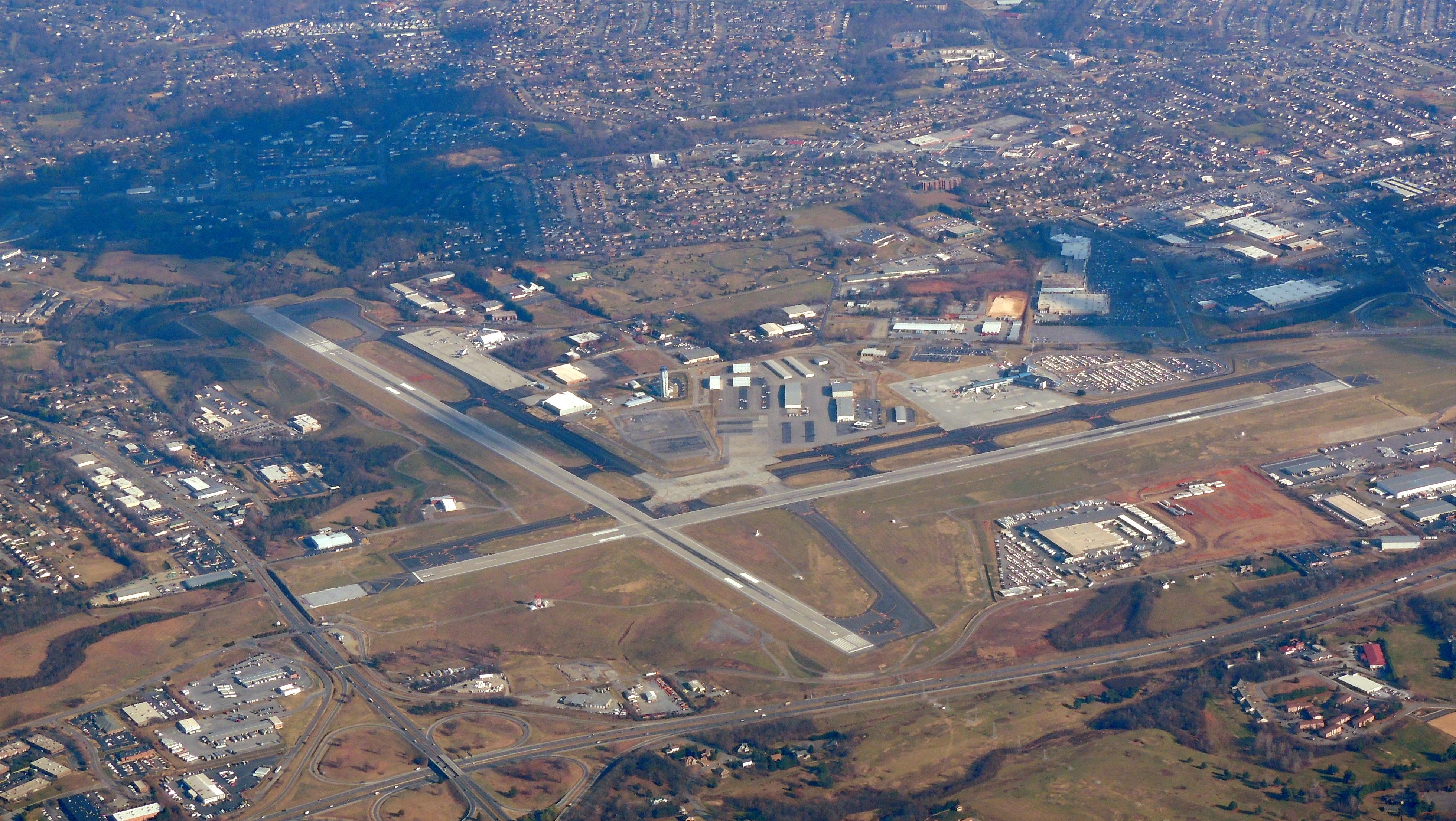 Flying back over Roanoke Regional heading back home