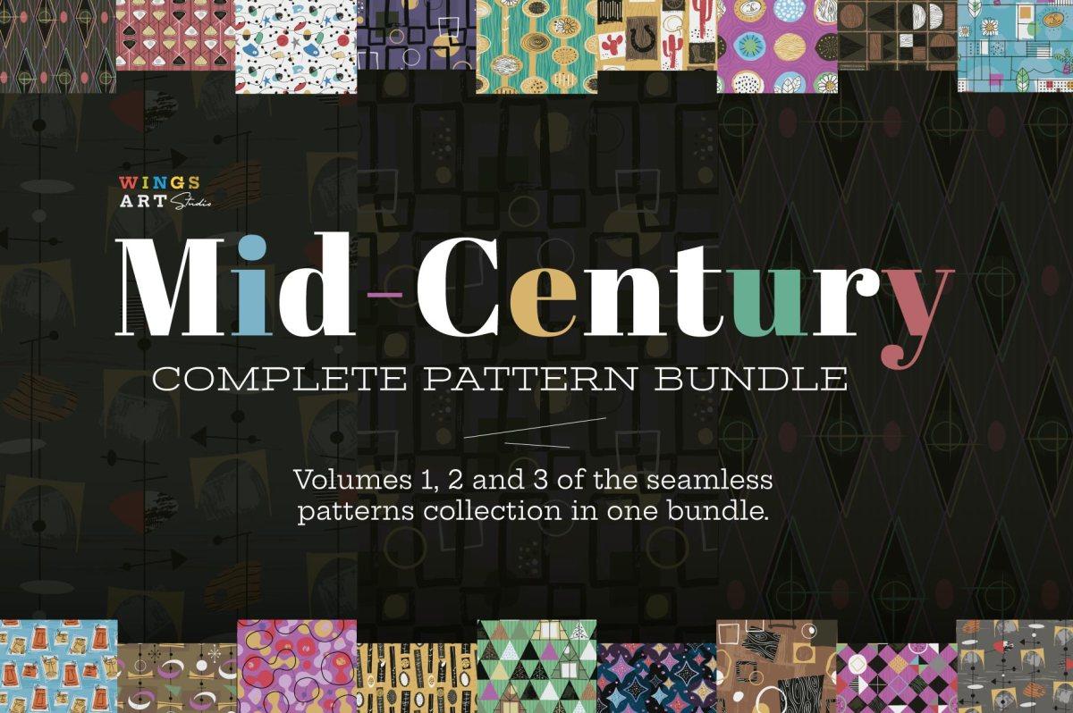 1950s Fabric Patterns by Wingsart Studio