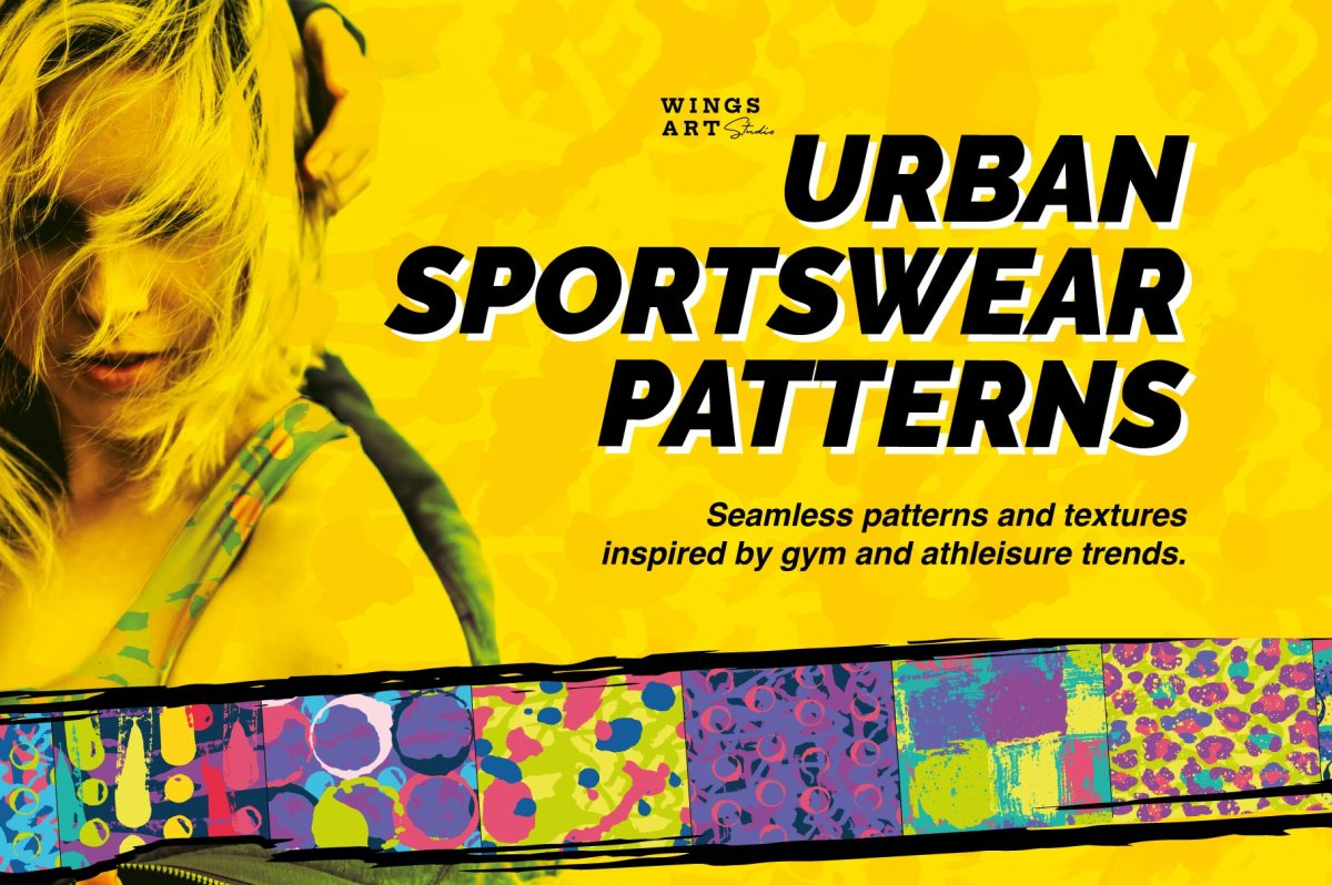 athleisure sports patterns by wingsart