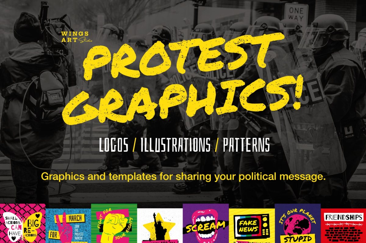 Protest March Graphics and Templates by Wingsart