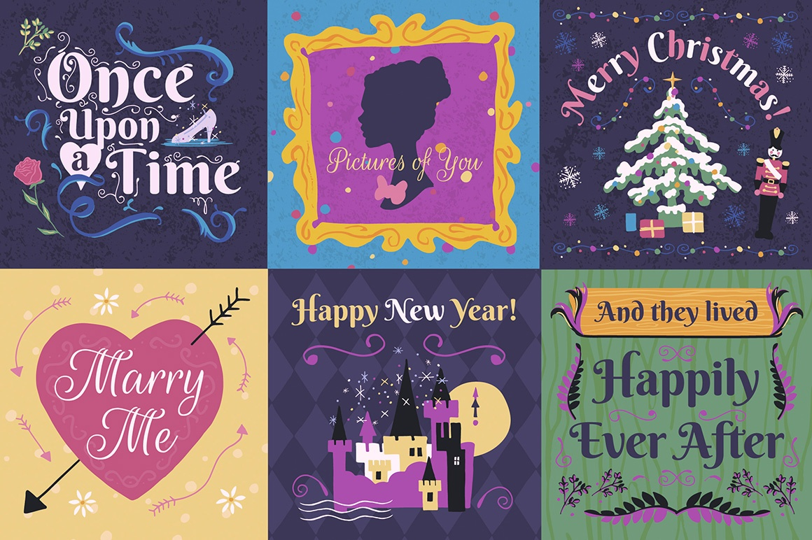 Fairy Tale Illustrations and Design Templates