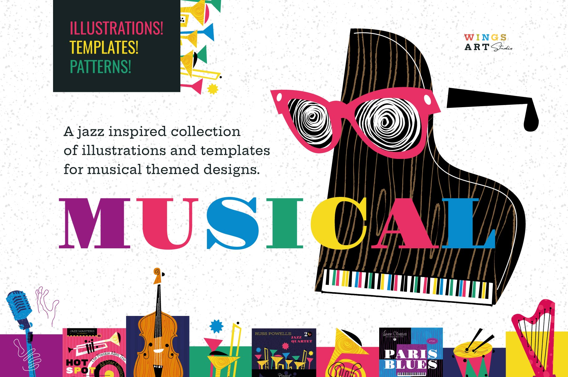 Musical Icons and Illustrations by Christopher King