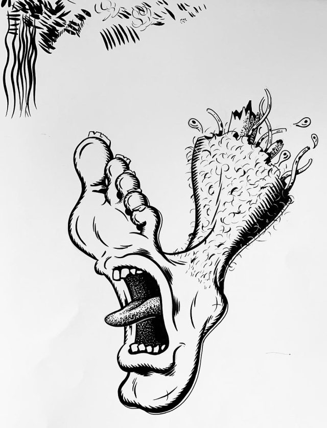 Screaming Foot - Inspired by Jim Phillips Santa Cruz Artwork