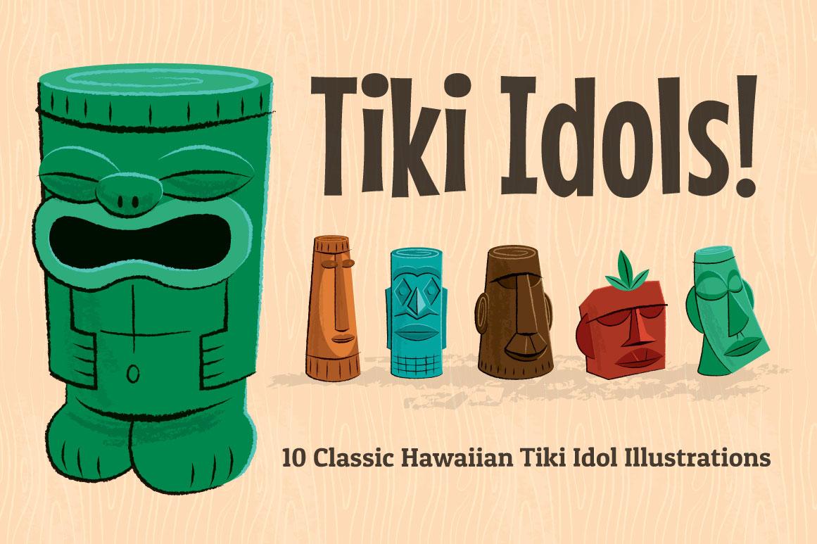 Hawaiian and tiki graphics