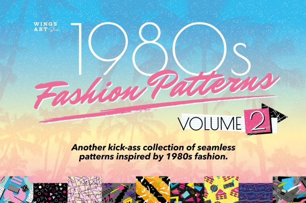 1980s Fashion Patterns Volume Two by Wing's Art Studio