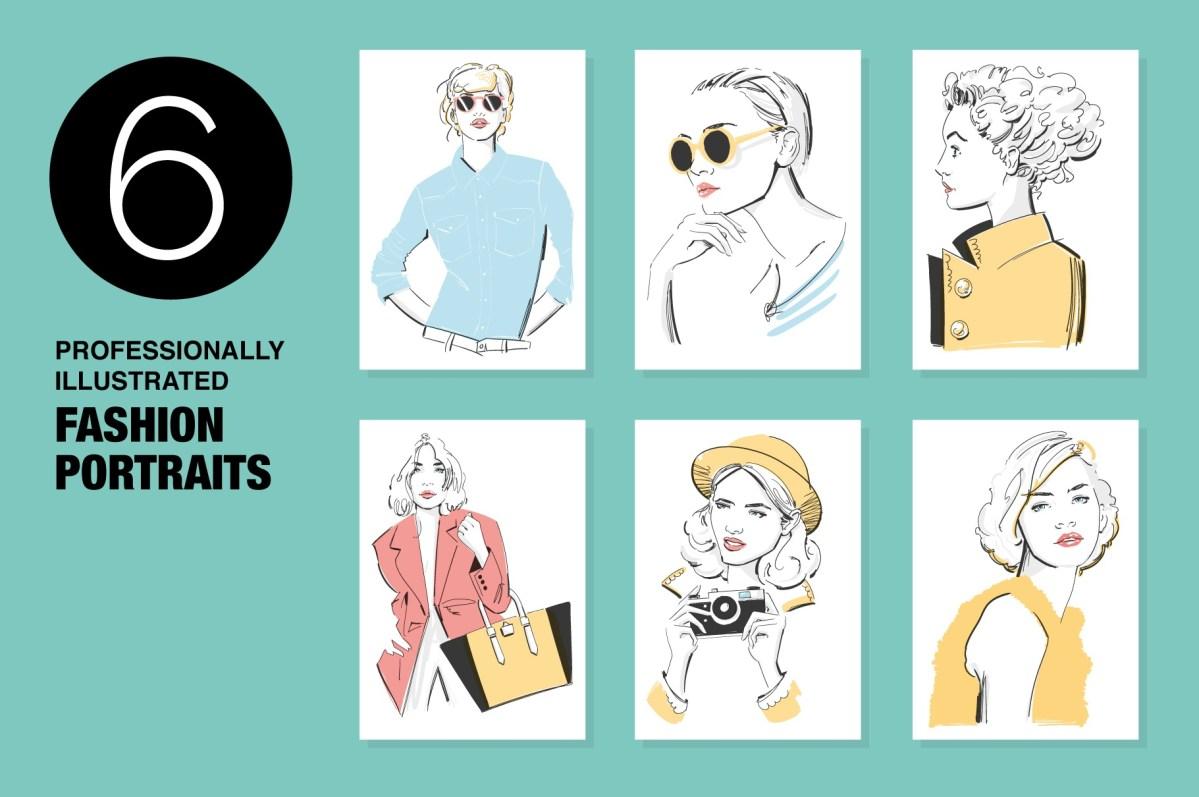 Fashion Portrait Illustrations