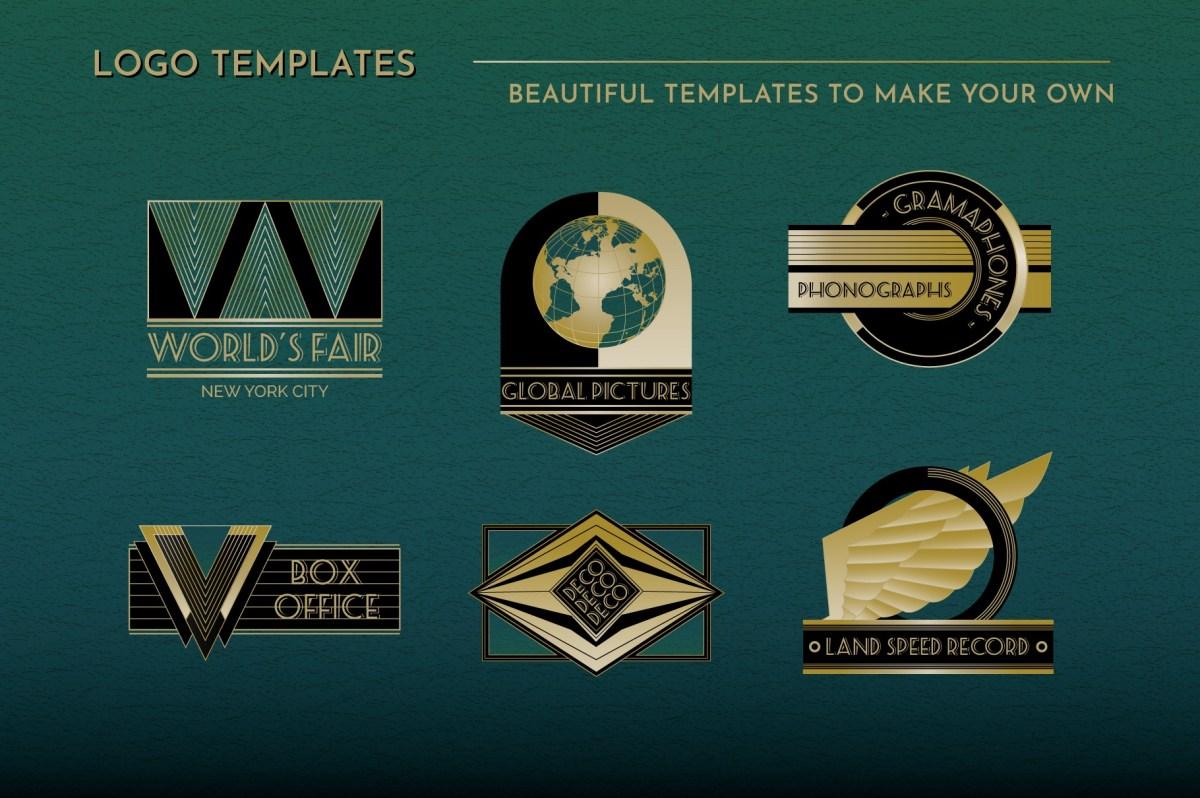 Art Deco Logo Templates Vol 2