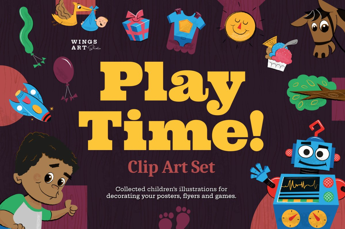 Playtime - Children's Illustrations and Clip Art Set