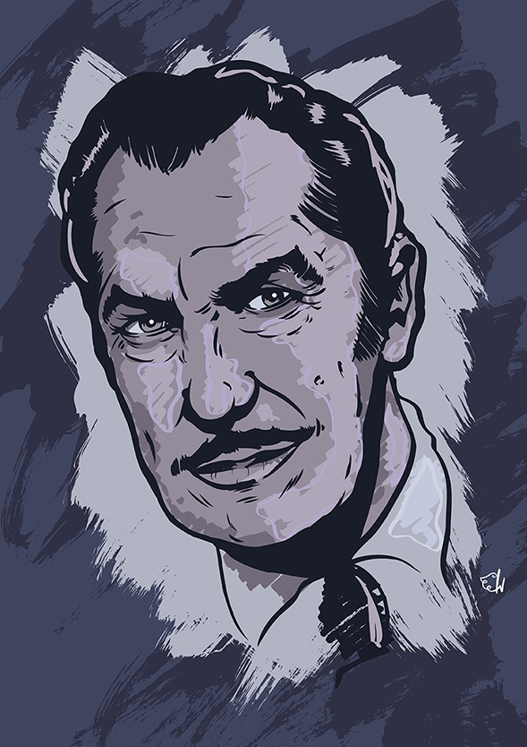 Vincent Price portrait by Christopher King