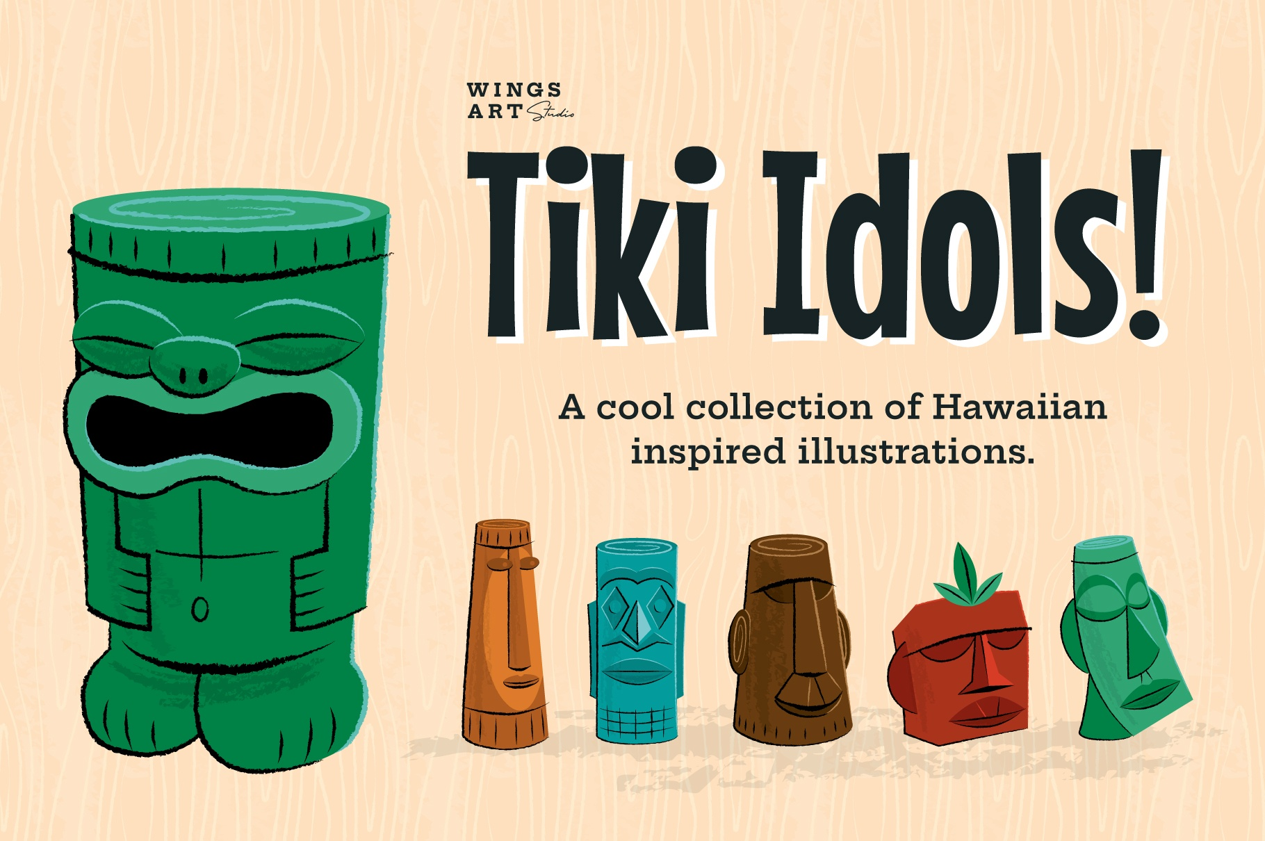 Tiki Idols Illustrations