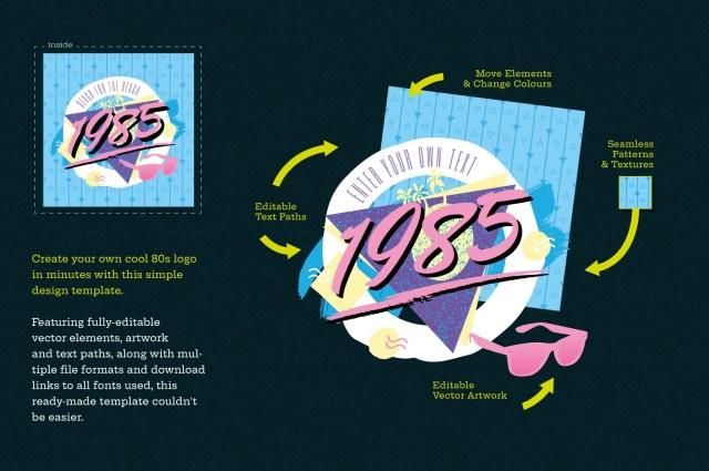 1980s Retro Logo Design Template