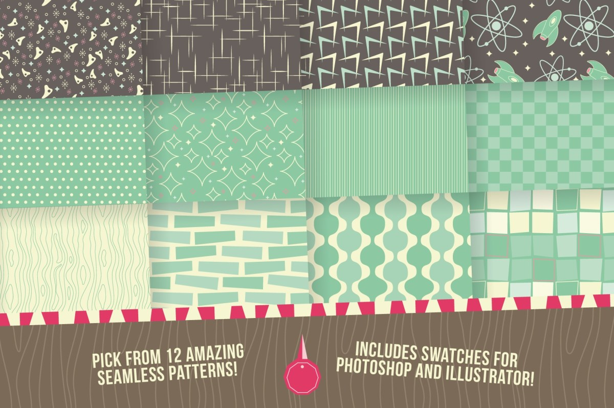 Free 1950s Retro Patterns