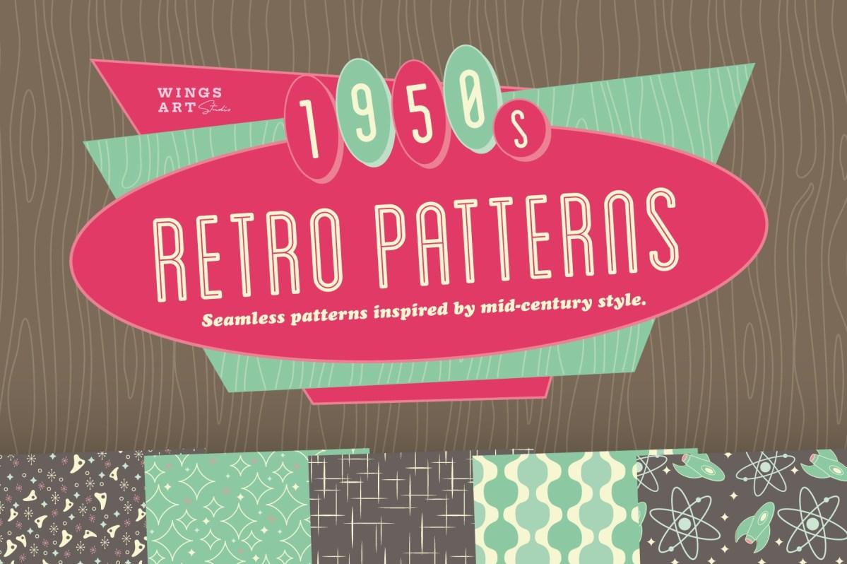 Free 1950s Retro Patterns