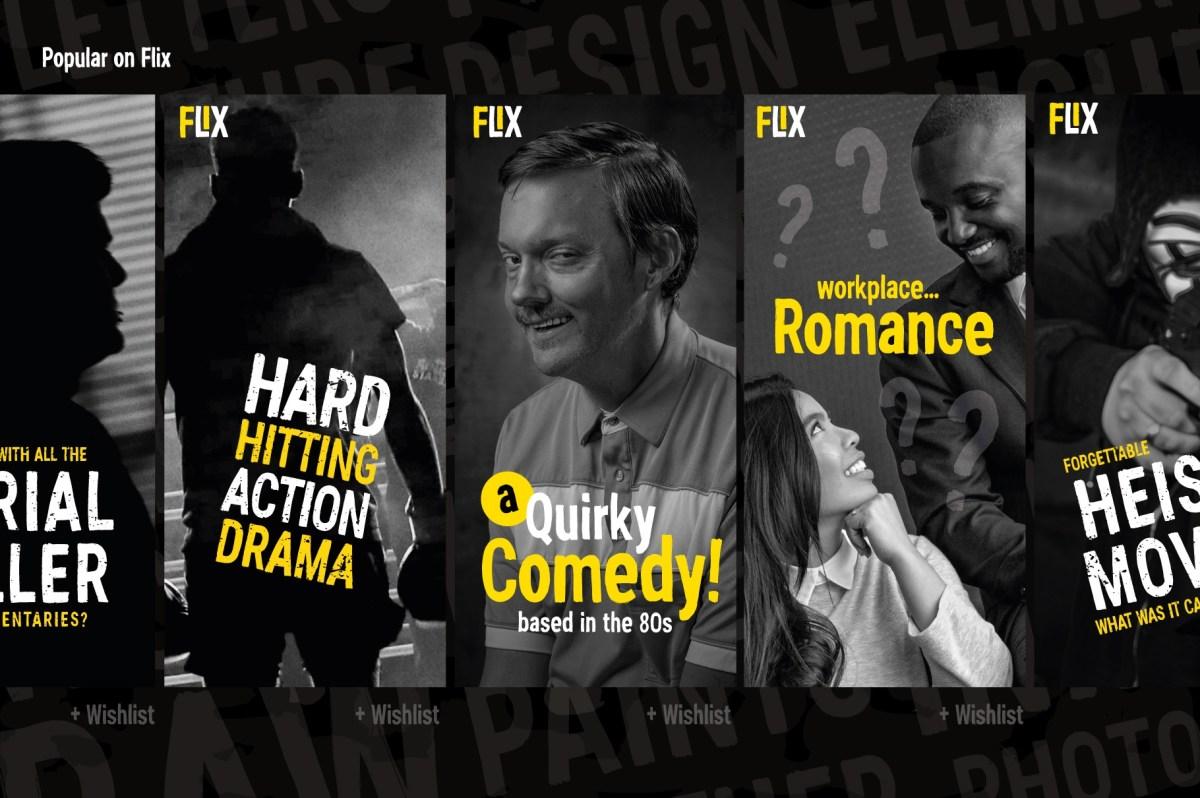 Fonts for Netflix Show Thumbnails