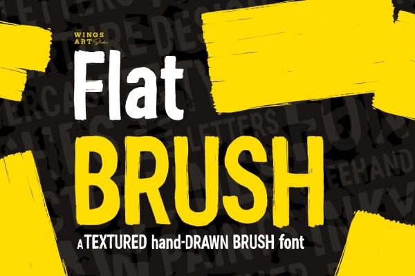 Hand-made textured brush font