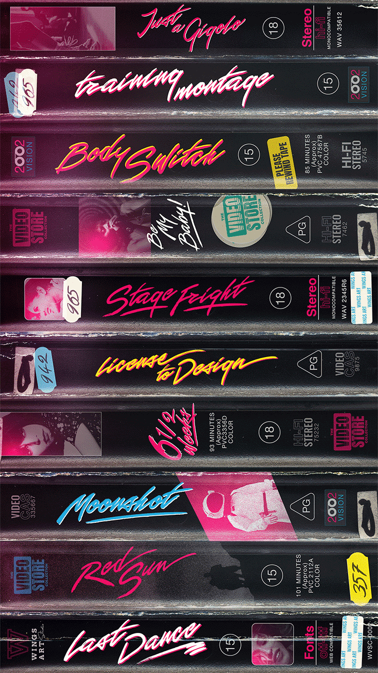 1980s Video Cover Fonts