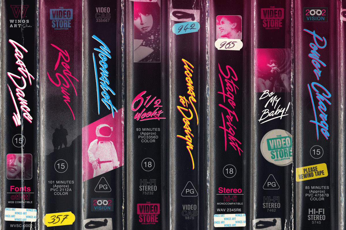 VHS Font Collection by Wing's Art Studio