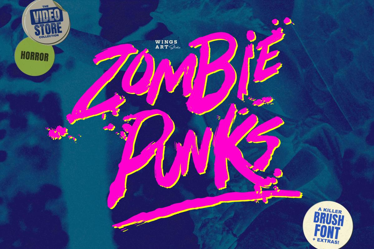 handmade 80s horror fonts