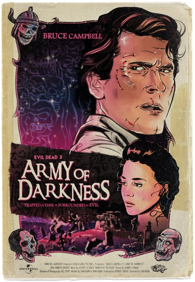 Army of Darkness Movie Poster Art by Christopher King