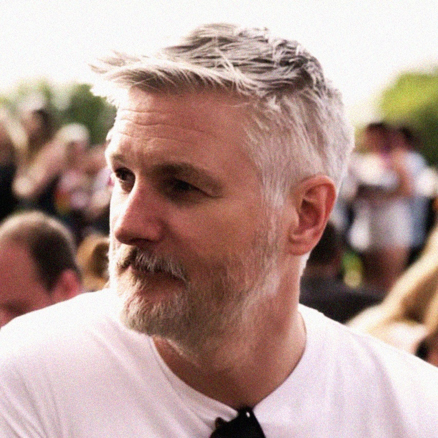 Chris King - Print and Motion Graphics Designer (silver fox, grey hair, men with grey hair)