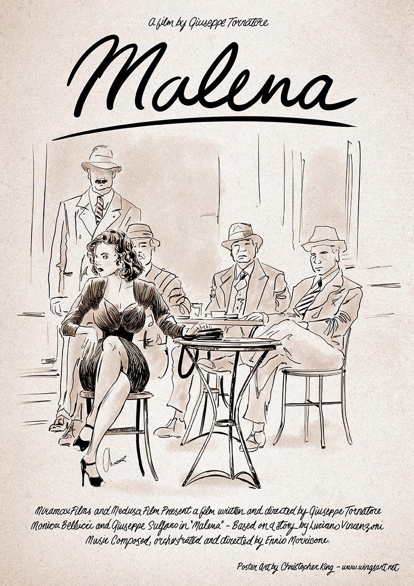 Malena Monica Bellucci Film Poster